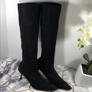 Manolo Blahnik suede tall boots